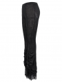 Black Vintage Gothic Sexy Flared Trousers for Women