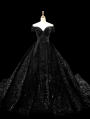 Black Gothic Shining Princess Ball Gown Wedding Dress