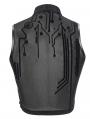 Black Sexy Gothic Net Sleeveless Short T-Shirt for Women