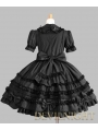Black Long Sleeves Bow Sweet Gothic Lolita Dress
