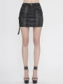 Black Gothic Punk Mini Skirt