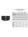 Black Gothic Punk PU Leather Wide Waistband for Women
