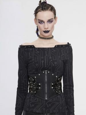 Black Gothic Punk Waistband for Women
