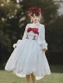 White Romantic Off-the-Shoulder Sweet Lolita OP Dress