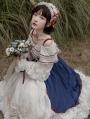 Snow White Off-the-Shoulder Long Sleeve Sweet Lolita OP Dress