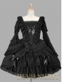 Black Long Trumpet Sleeves Sweet Gothic Lolita Dress