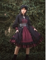 Dream of Autophagy Black and Red Gothic Lolita OP Dress