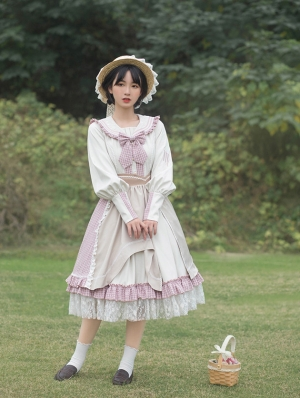 Arcadian Style Two-Pieces Long Sleeve Classic Lolita OP Dress
