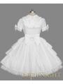 White Short Sleeves Bow Sweet Lolita Dress