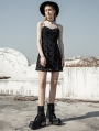 Black Street Fashion Daily Wear Heart Gothic Grunge Short Chiffon Dress