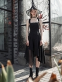 Black Street Fashion Daily Wear Gothic Grunge Irregular Long Dress