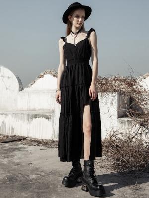 Black Street Fashion Daily Wear Gothic Grunge Long Dress