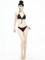 Black Gothic Two-Piece Bikini Set