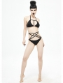 Black Gothic Sexy Two-Piece Bikini Set