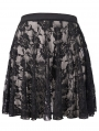 Black Gothic Lace Short Skirt