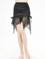Black Gothic Sexy Short Skirt
