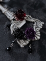 Dark Rose Gothic Pendant Earrings
