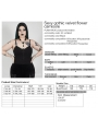 Black Sexy Gothic Flower Plus size Camisole for Women
