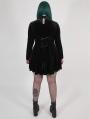 Black Gothic Velvet Dark Night Vines Short Plus Size Dress