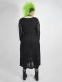 Back Gothic Punk Dark Snake Scale Long Plus Size Dress