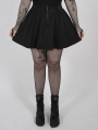 Black Gothic Grunge Short Plus Size Skirt