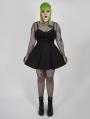 Black Gothic Grunge Short Plus Size Skirt