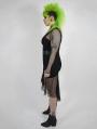 Black Gothic Punk Mesh Plus Size Fishtail Skirt