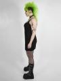 Black Gothic Punk Sexy Plus Size Short Dress