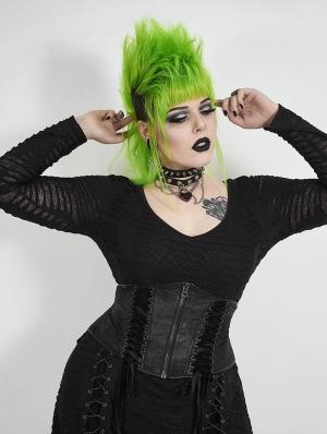 Black Gothic Handsome Plus Size Corset Waistband