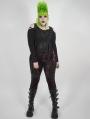 Red Plaid Gothic Punk Velvet Plus Size Leggings for Women