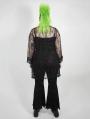 Dark Gothic Velvet Plus Size Flared Pants for Women