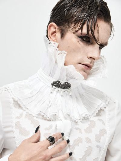White Gothic Collar for Men