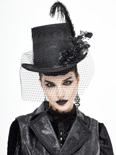 Black Vintage Gothic Party Unisex Hat