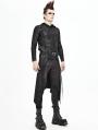 Black Gothic Punk Rock Half Skirt for Men