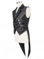 Black Vintage Gothic Swallow Tail Waistcoat for Men