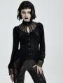 Black Vintage Gothic Long Sleeve Irregular Shirt for Women
