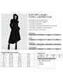 Black Vintage Gothic Long Winter Warm Hooded Coat for Women