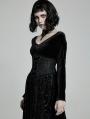 Black Gothic Gorgeous Court Jacquard Corset Waistband for Women
