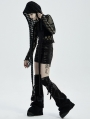 Black Gothic Hooded Scarf for Women