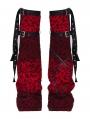 Red Gothic Punk Girls Leg Sleeve for Women
