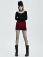 Black Gothic Punk Hot Girls Short Skirt