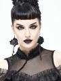 Black Gothic Flower Pedant Earrings