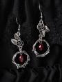 Gothic Vintage Rose Pendant Earrings