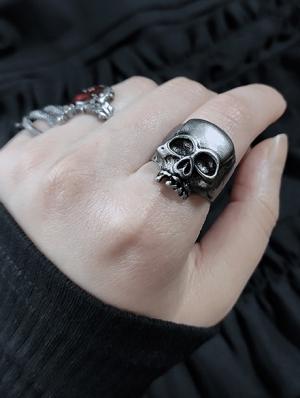Gothic Punk Skull Ring