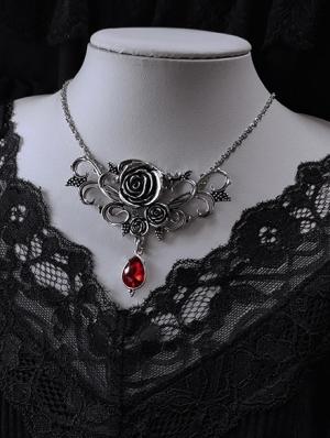 Vintage Gothic Rose Vines Pendant Necklace