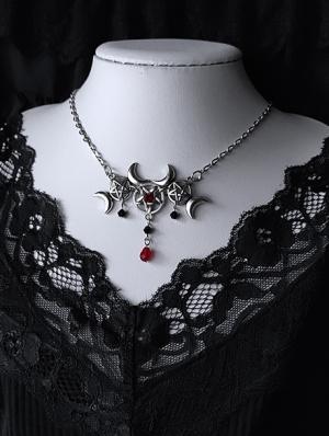 Gothic Punk Pentagram Pendant Necklace