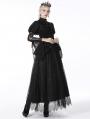 Black Gothic Retro Short Cape for Women