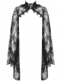 Black Gothic Lace Bell Sleeves Cape for Women