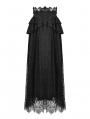 Black Gothic Jacquard Lace Empire Waist Long Party Skirt