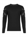 Black Gothic Church Building Structure Long Sleeve T-Shirt for Men